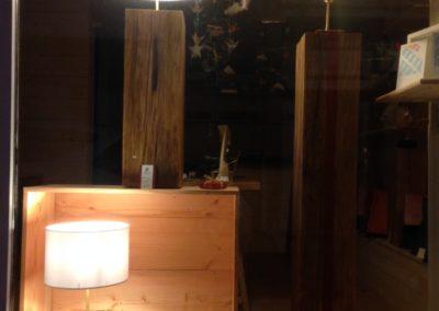 Lampes en chêne massif avec ou sans abat-jour